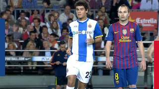 Coutinho's first derby at Camp Nou