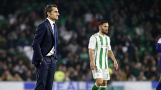Valverde patrols the sideline