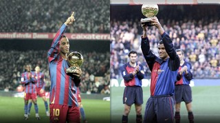Friday's Barça Legends match will see the return of two infamous Brazilians who each won the most coveted individual trophy: Ronaldinho and Rivaldo