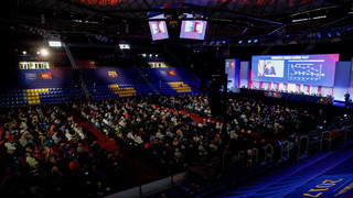 Así se prepara el Palau Blaugrana para la Asamblea de Compromisarios y el posterior partido de fútbol sala