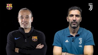 Iniesta and Buffon, face to face