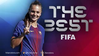 La jugadora del Barça Femení és escollida com la millor jugadora de la temporada 2016/17 després de ser campiona de l'Europeu i MVP del torneig amb Holanda i millor jugadora de l'any de la UEFA