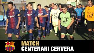 Espectacular resumen de la participación de la Agrupación dentro de los actos conmemorativos con motivo del aniversario de la práctica del fútbol en Cervera