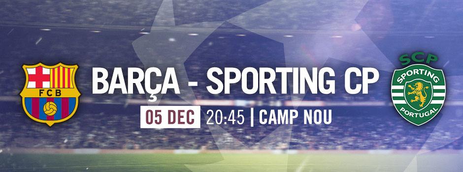 Official tickets FCB VS Sporting Lisboa