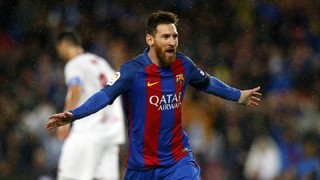 Los últimos goles de Messi contra el Sevilla en el Camp Nou