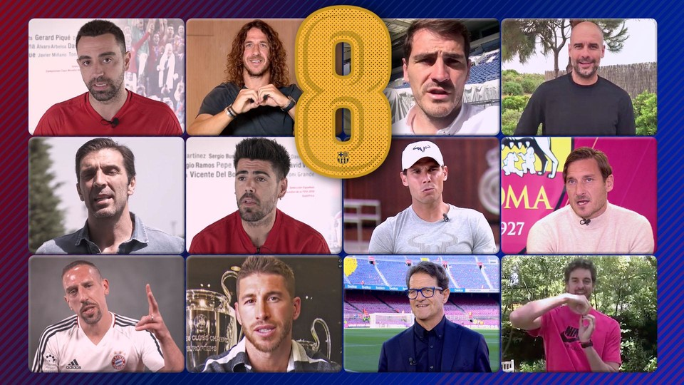 the legends of sport pay tribute to andrés iniesta fc barcelona