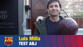 Luis Milla va guanyar una Recopa, una Lliga i una Copa del Rei durant la seva etapa blaugrana