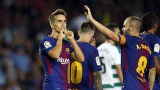Gaudeix amb les millors imatges i amb els gols de Messi (4), Paulinho i Denis davant l'Eibar a la golejada barcelonista (6-1) al Camp Nou