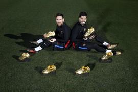 Leo Messi i Luis Suárez: sis Botes d'Or a la Ciutat Esportiva