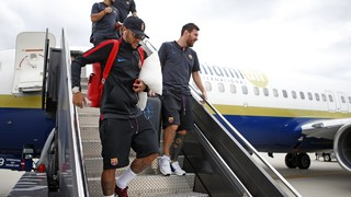 FC Barcelona touch down in Washington DC