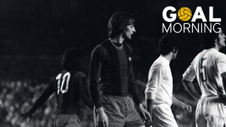 Goal morning! Today marks a year since the death of JohanCruyff. We commemorate it with this goal against Madrid