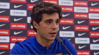 La roda de premsa de presentació d'Ignacio Alabart amb el FC Barcelona Lassa