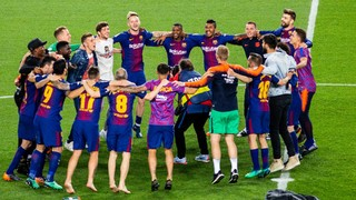 El Clásico celebrations at Camp Nou