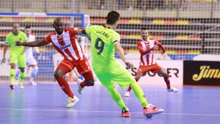 Jimbee Cartagena – Barça Lassa: Sorpresos pel porter jugador (5-5)