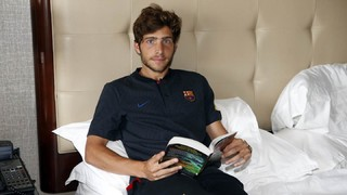What is in Sergi Roberto's case?
