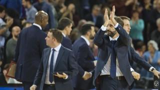 La rueda de prensa posterior al Barça Lassa - CSKA Moscú