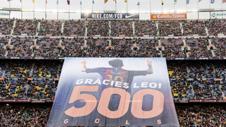 Camp Nou tribute to Leo Messi