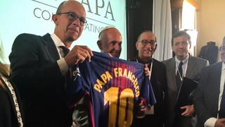 La Fundació Barça i Scholas renoven la seva aliança a Roma en presència del Sant Pare