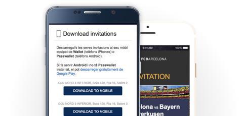 Abre el e-mail con tus invitaciones en el móvil