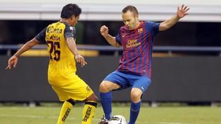 بعد سبع سنوات على مباراته الأولى في دالاس حيث فاز على كلوب أمريكا المكسيكي (2-0) ودياً عام 2011، يعود نجوم برشلونة إلى ملعب بيغ دي هذا الصيف