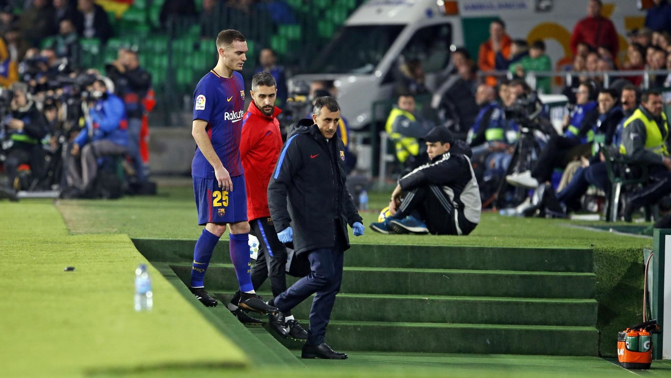 The Club's medical services have confirmed that the Belgian centre half suffered a hamstring injury in his left leg against Betis on Sunday