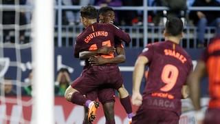 Màlaga 0 - FC Barcelona 2(1 minut)