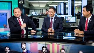 El màxim mandatari del FC Barcelona ha atès els mitjans de comunicació del territori en els quals ha parlat de l'expansió del Club als Estats Units, a banda d'analitzar l'actualitat blaugrana