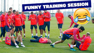 MSN stars in funny training session moment