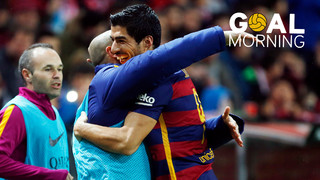 Goal Morning! What a goal by Luis Suárez to start thw week!