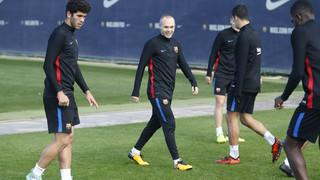 Los azulgranas se han ejercitado este domingo para comenzar a preparar el debut en la Copa del Rey contra el Murcia, el martes en la Nueva Condomina (20.45 horas)