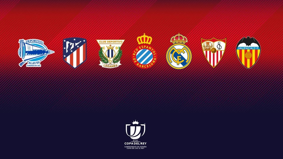 Alavés, Atlético, Leganés, Espanyol, Real Madrid, Sevilla and Valencia join Barça in the last eight of the Copa del Rey