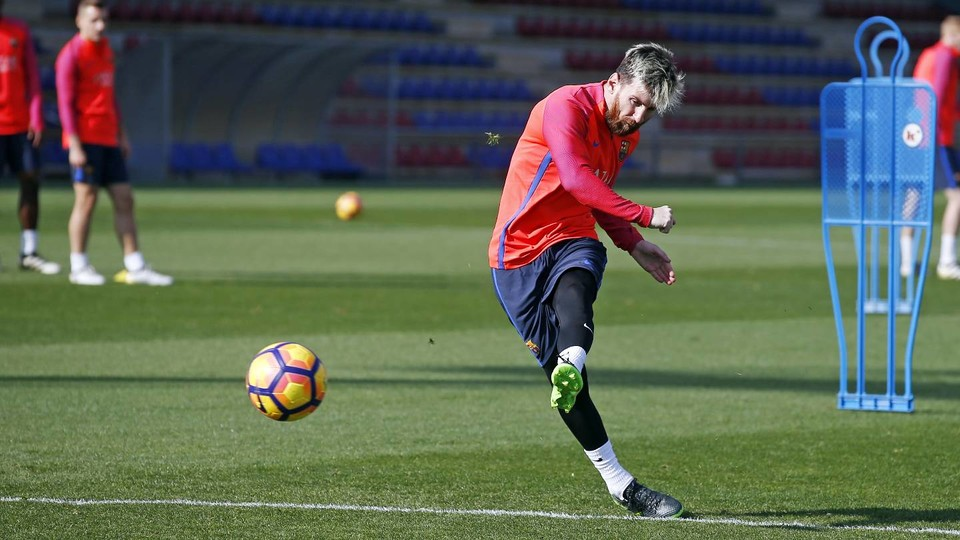 Leo Messi Trained With The Team On Thursday And Friday After Returning From International Action