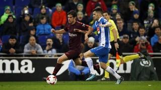 Le Barça s'incline en fin de match au RCDE Stadium lors du derby catalan et devra revenir au score s'il veut poursuivre l'aventure en Coupe du Roi (but de Melendo)