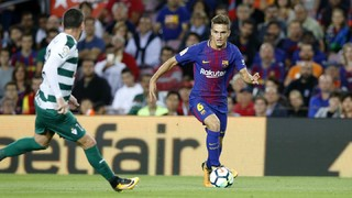 The view of Denis Suárez and Semedo after the league game against Eibar