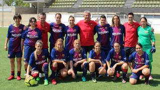 Les exjugadores blaugranes van guanyar 3 partits del torneig internacional de futbol 7, competició en la qual van fer un bon paper i se'n van emportar una bona experiència