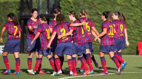 Fc barcelona women 39 s team pose for official team picture fc barcelona - Forlady barcelona ...