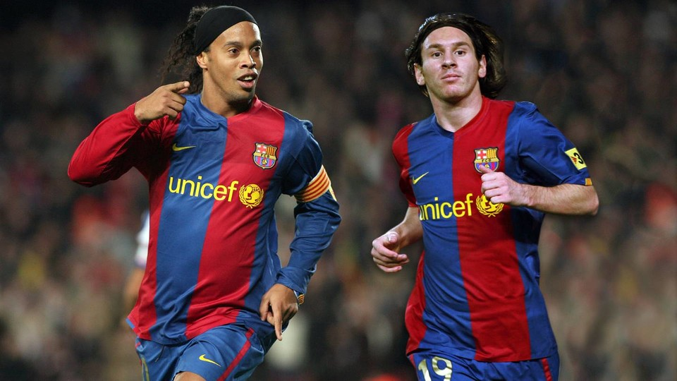 Ronaldinho Gaucho And Leo Messi Spent Three And Half Seasons Together At Fc Barcelona