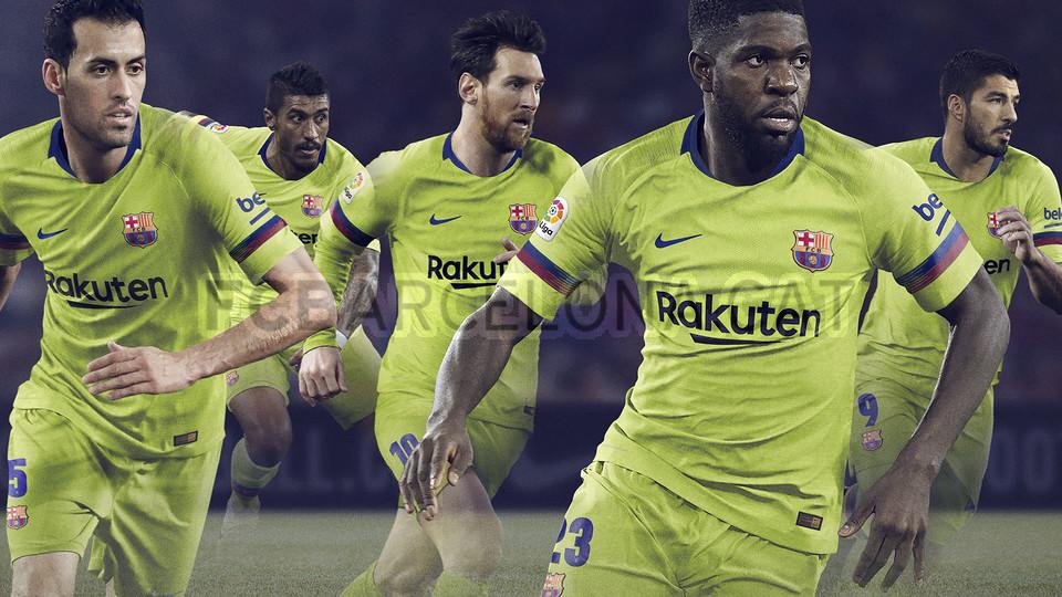 الأصفر لون قميص برشلونة الثاني لموسم 2018-2019 91891193