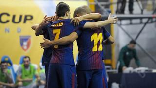 Barça Lassa 6 - Knoopunt 0 (UEFA Futsal Cup)