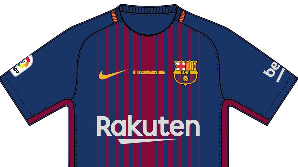 Barca spiller uden navne på trøjen mod Betis