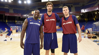Primer entrenament de Vezenkov, Tomic i Sanders amb el Barça Lassa (bàsquet) 2017/2018