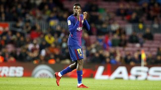 Inside view of Dembélé's Camp Nou return