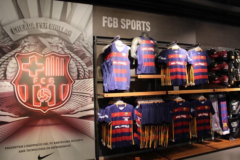 las camisetas de las secciones a la venta en la fcbotiga megastore fcb
