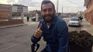 Aleix Vidal agraeix el suport de l'afició