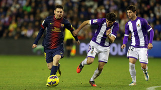 Messi's two great goals visiting Valladolid