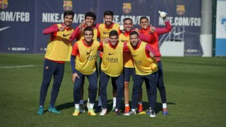 FC Barcelona hold training session Wednesday at the Ciutat Esportiva