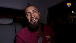 In the car with Arturo Vidal