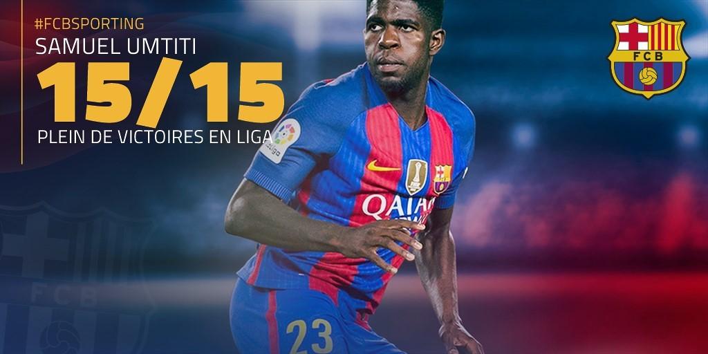 Maillot Extérieur FC Barcelona Umtiti