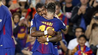 Enjoy Messi's four strikes and goals from Paulinho and Denis Suárez in Barça's fifth straight win of the league season