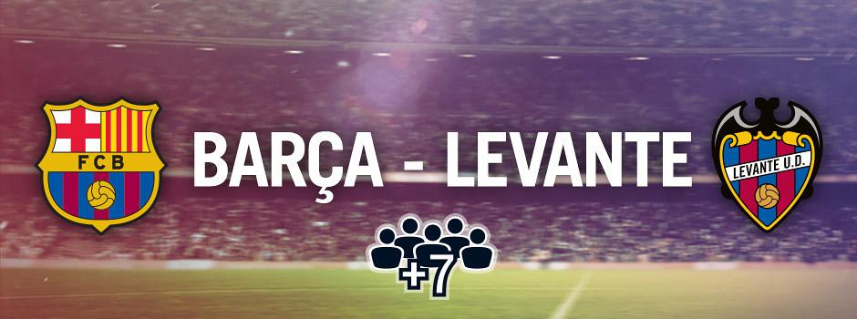 Entradas oficiales para grupos Barça VS Llevant